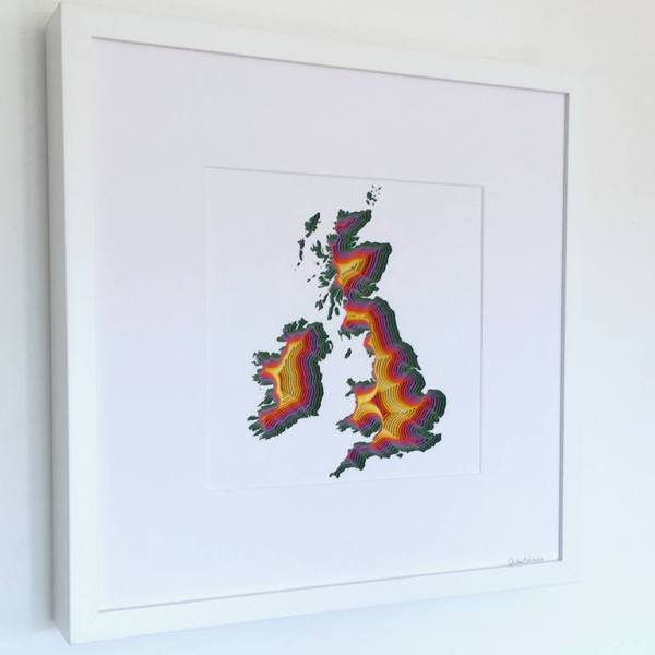 """Great Britain & Ireland"" - Original Artwork by Chloe Natalia"