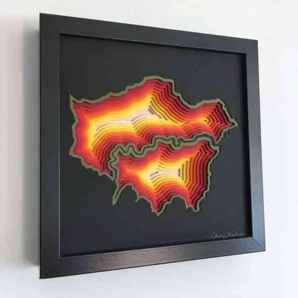 """London Sunset"" - Original Artwork by Chloe Natalia"