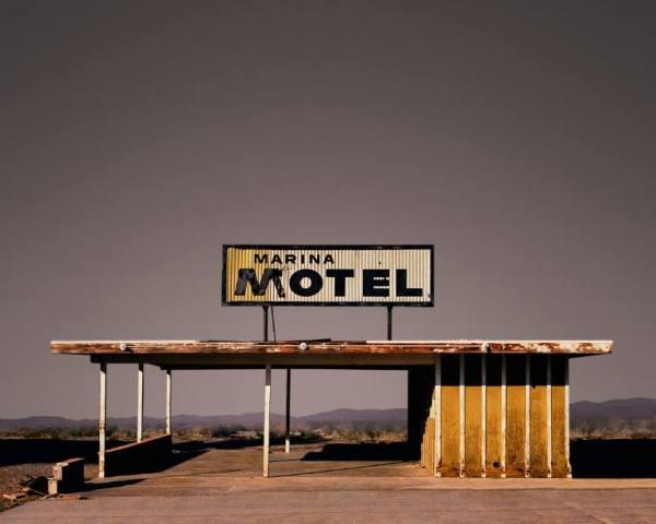 """Marina Motel, Salton City - Edition 4 of 9"" - Original Artwork by Ed Freeman"