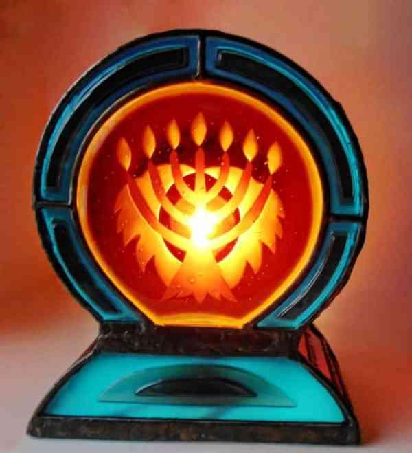 """""""Menorah Lantern"""" - Original Artwork by Riki Dubo"""
