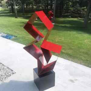 """Purity abstract outdoor sculpture"" - Original Artwork by Vadim Kharchenko"