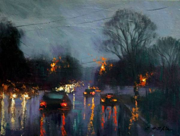 """Rainy Day"" - Open Edition Print by Chin h Shin"