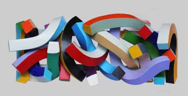"""""""Streamer 72 ( wall sculpture)"""" - Original Artwork by Frans Muhren"""