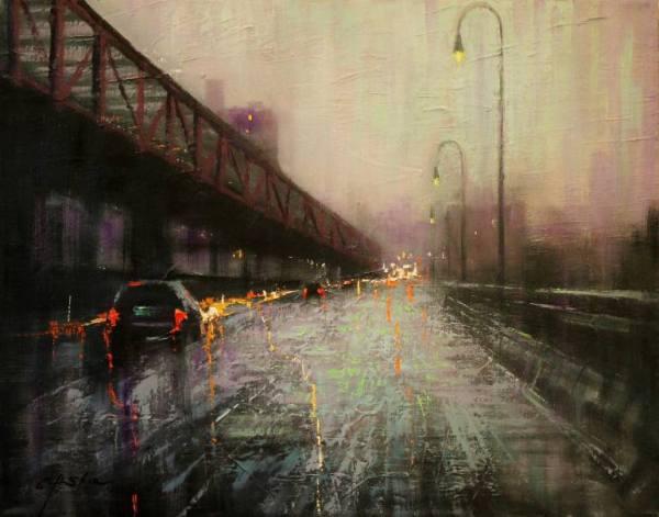 """WilliamsBurg Bridge"" - Open Edition Print by Chin h Shin"