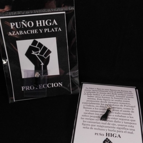 PUÑO HIGA AZABACHE PLATA