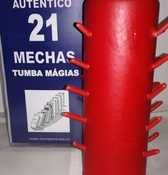 AUTENTICO VELON 21 MECHAS ROJO