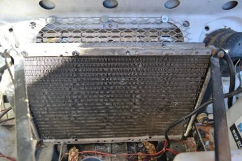 Le faisceau du radiateur est souvent source de fuite.