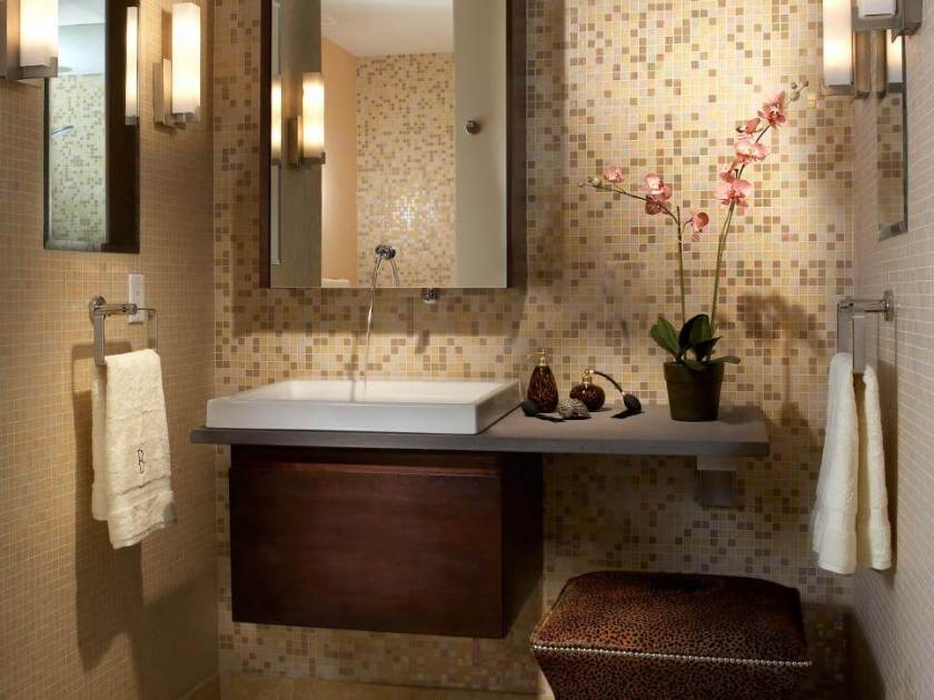 new modern look bathroom
