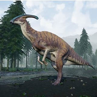 Dinosaur names - Parasaurolophus