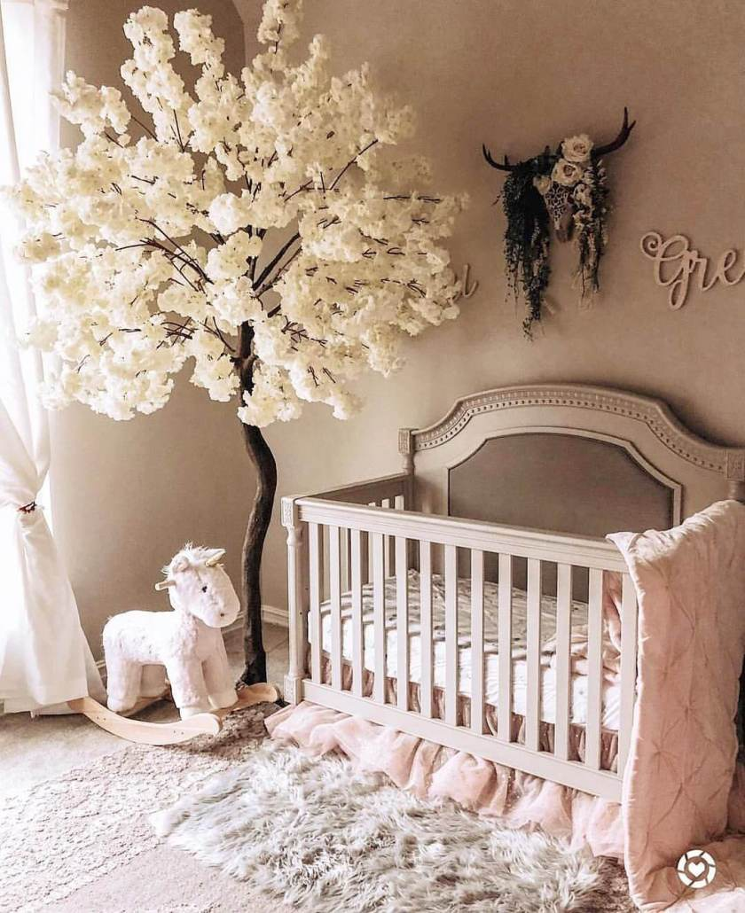 Interior Design Elegant Pink White Gray Baby Girl Room: 50 Inspiring Nursery Ideas For Your Baby Girl