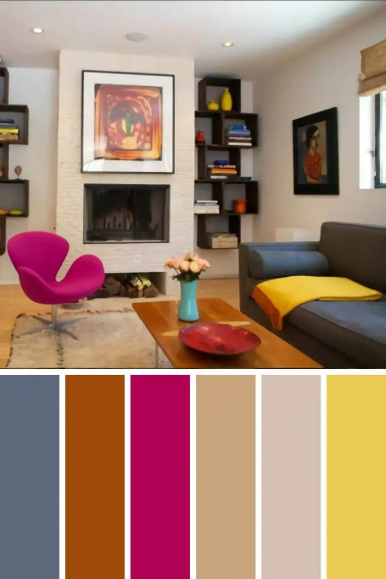 Striking gray living room color schemes