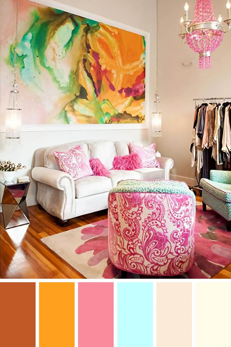 Excited living room color schemes cream couch