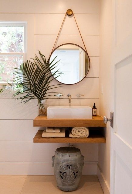 Sensational bathroom mirror and shelf ideas #bathroom #mirror #vanity #bathroomdesign #bathroomremodel #bathroomideas