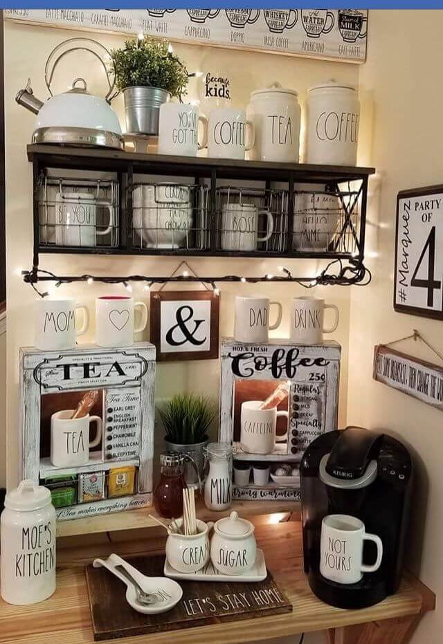 coffee bar home decor ideas