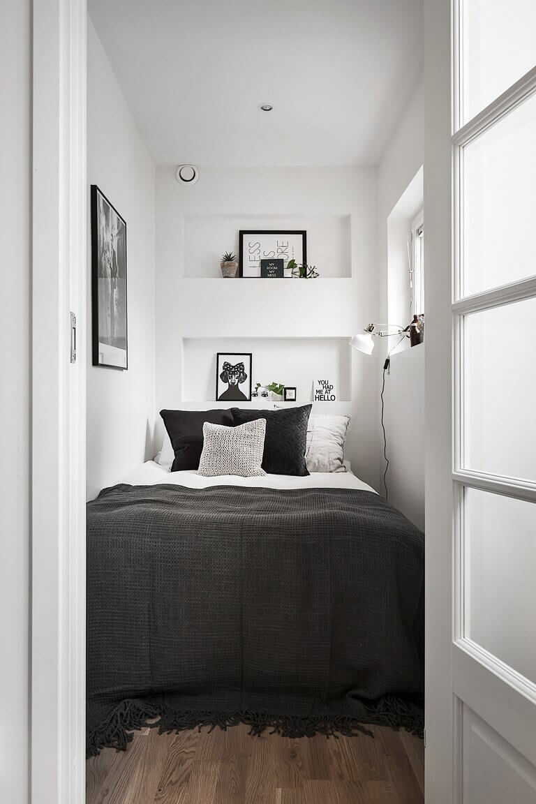 25 small bedroom ideas that are look stylishly space saving - Small space room ideas ...