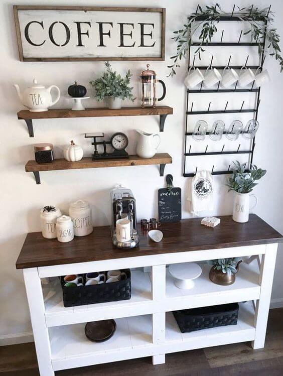 Wondrous 30 Best Home Coffee Bar Ideas For All Coffee Lovers Gmtry Best Dining Table And Chair Ideas Images Gmtryco