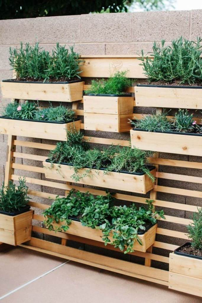 Hanging Garden with DIY Hanging Shelves - vertical backyard garden