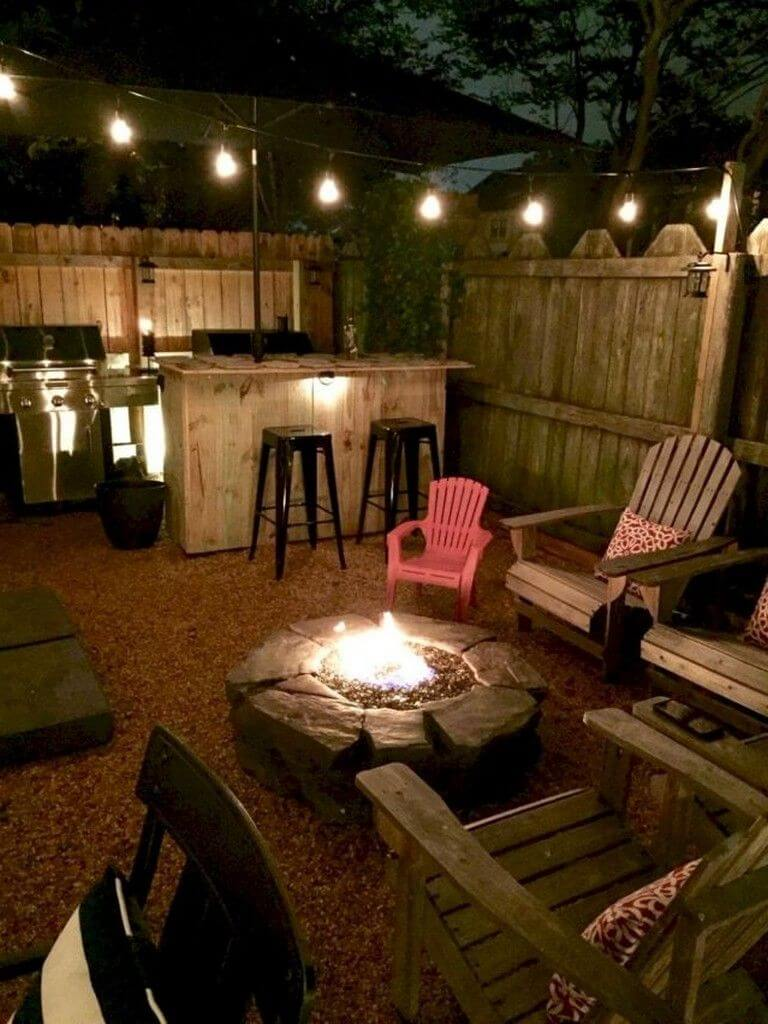 Backyard Bar - small backyard ideas on a budget
