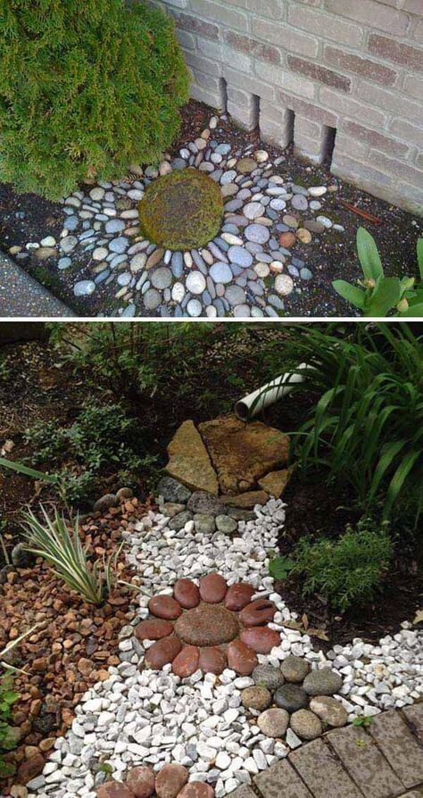Stone Ornament - very small backyard ideas