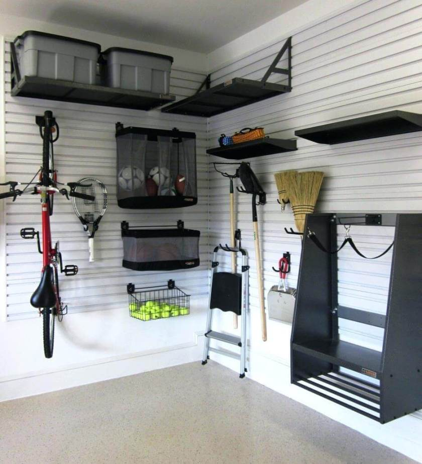 wall garage storage ideas small garage storage ideas finished with black furntiure design white wall painting made