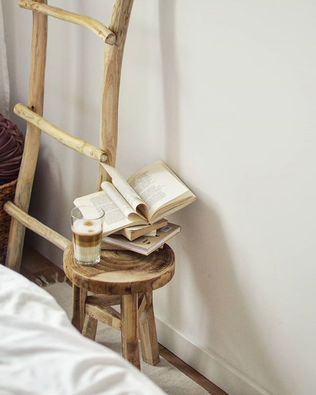 DIY Rustic Ladder and Chair Set