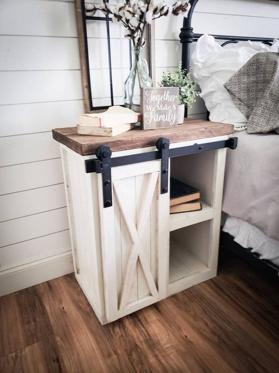 Outstanding Sliding Rustic Nightstand