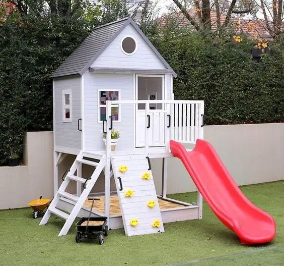 Backyard playground ideas - cubby house