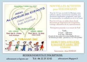 Ateliers au Choeur des enfants @ Tabanac | Tabanac | Nouvelle-Aquitaine | France