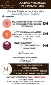 La Journée vendanges de Château Mangot - 29 septembre 2018 @ Château Mangot | Saint-Étienne-de-Lisse | France