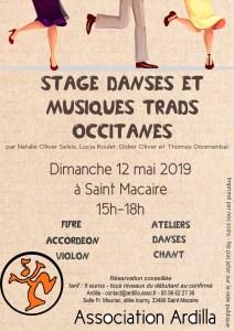STAGE DANSES ET MUSIQUES TRADITIONNELLES OCCITANES @ allée Tourny | Saint-Macaire | Nouvelle-Aquitaine | France