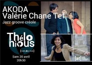 Akoda (Jazz Groove Créole) @ Thélonious Café Jazz Club   Bordeaux   Nouvelle-Aquitaine   France