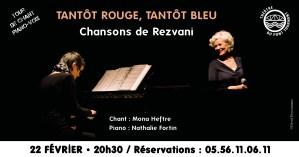 Chansons de Rezvani / Tour de chant piano-voix @ Théâtre pont tournant   Bordeaux   Nouvelle-Aquitaine   France