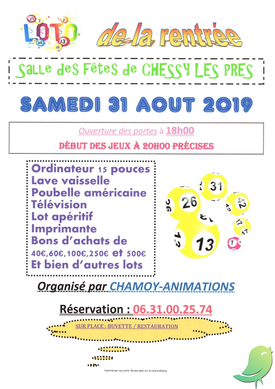 Loto Samedi 10 Aout 2019 : samedi, Rentrée, Sortir, L'Aube