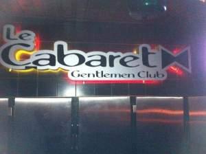 Cabaret Gentlemen, danseuses nues, Grenville