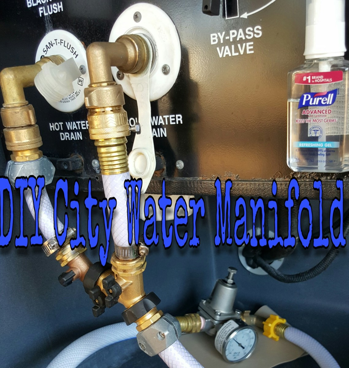 DIY: City Water Manifold (and my process for dumping the black tank)