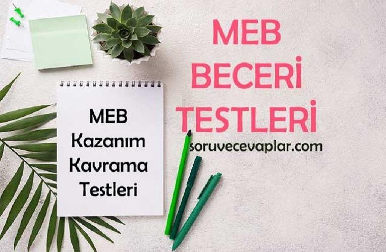 MEB Beceri Temelli Testler Kitabı (5, 6 ve 7. Sınıf) 2020-2021