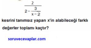 rasyonel sayılar çözümlü sorular