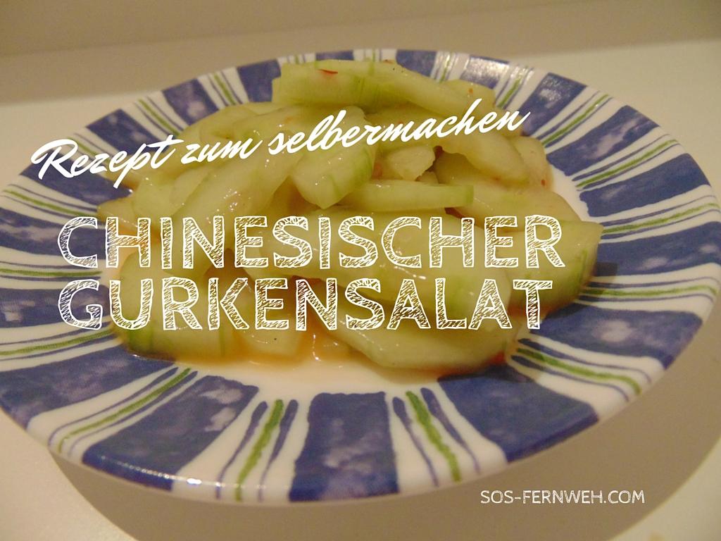 Chinesischen Gurkensalat selbermachen