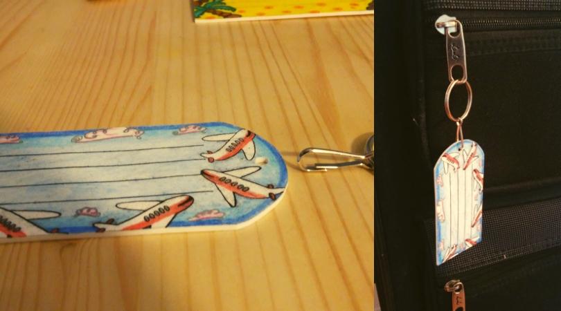DIY Kofferanhänger aus Schrumpffolie