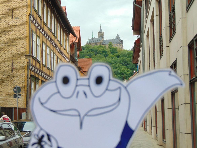 Oddy und das Wernigeröder Schloss.