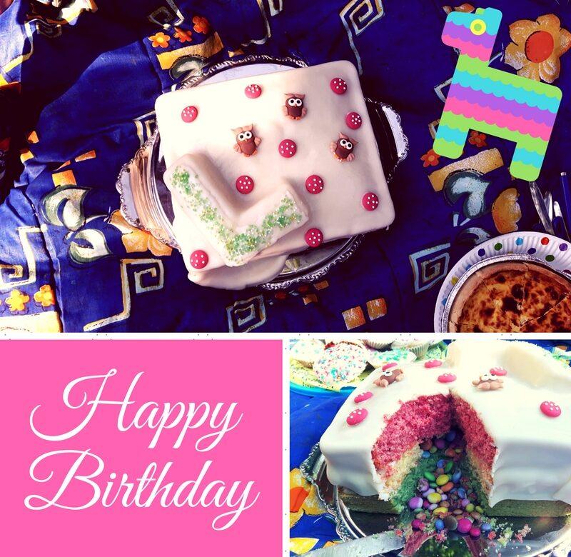 Mexiko-Style: Piñata-Kuchen Regenbogen