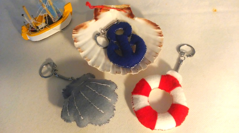 Maritime Schlüsselanhänger Filz