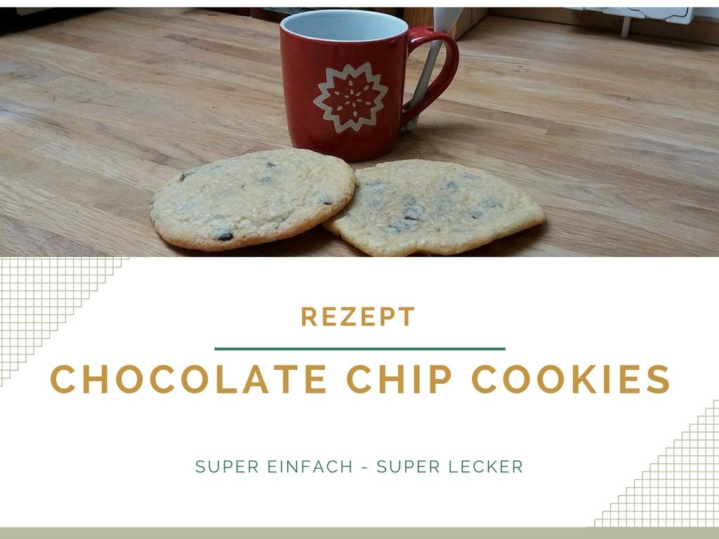 Rezept für einfache und leckere amerikanische Chocolate Chip Cookies