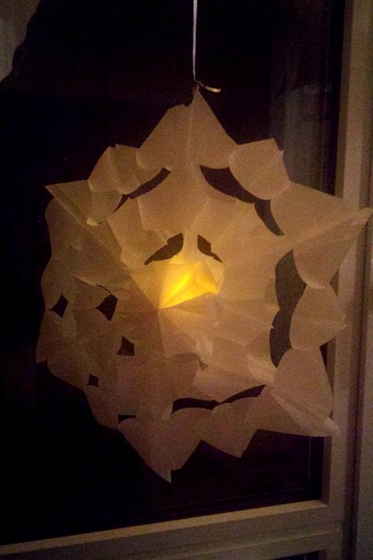 Zauberhafte Sterne Aus Butterbrotpapiertüten Basteln