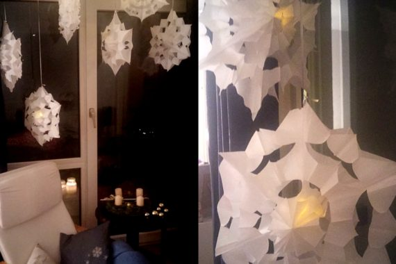 Sterne aus Butterbrotpapiertüten basteln