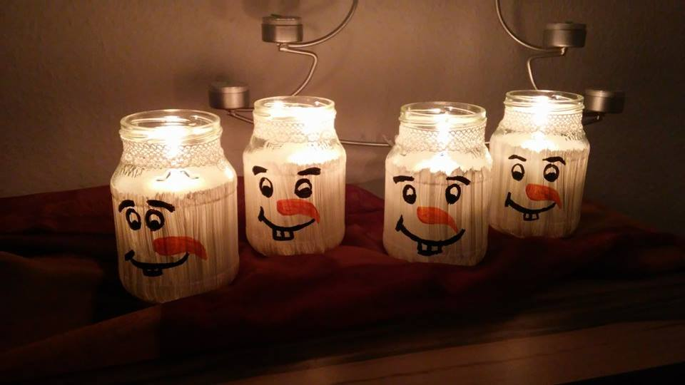 diy windlicht basteln schneemann in 10 min fertig. Black Bedroom Furniture Sets. Home Design Ideas