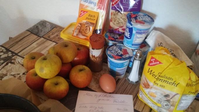 Zutaten für den Bratapfelkuchen