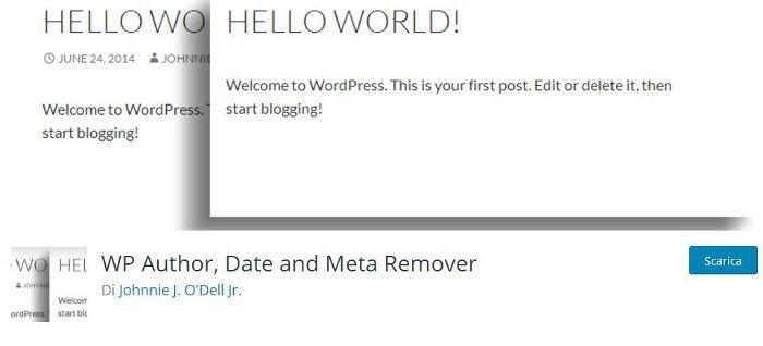 WP Author, Date and Meta