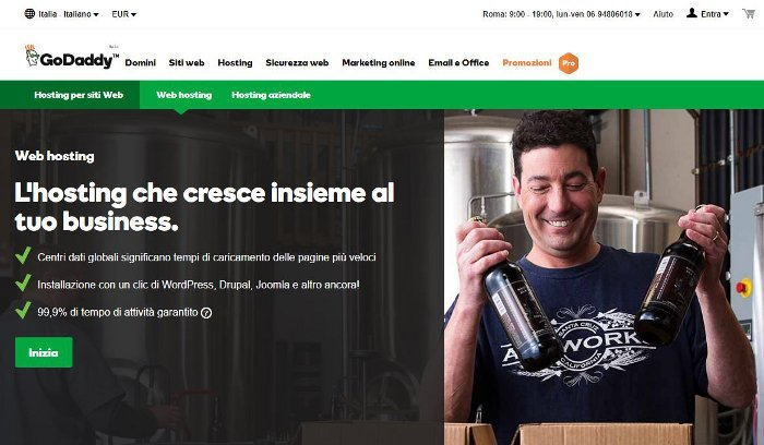 Registrare dominio e hosting su GoDaddy