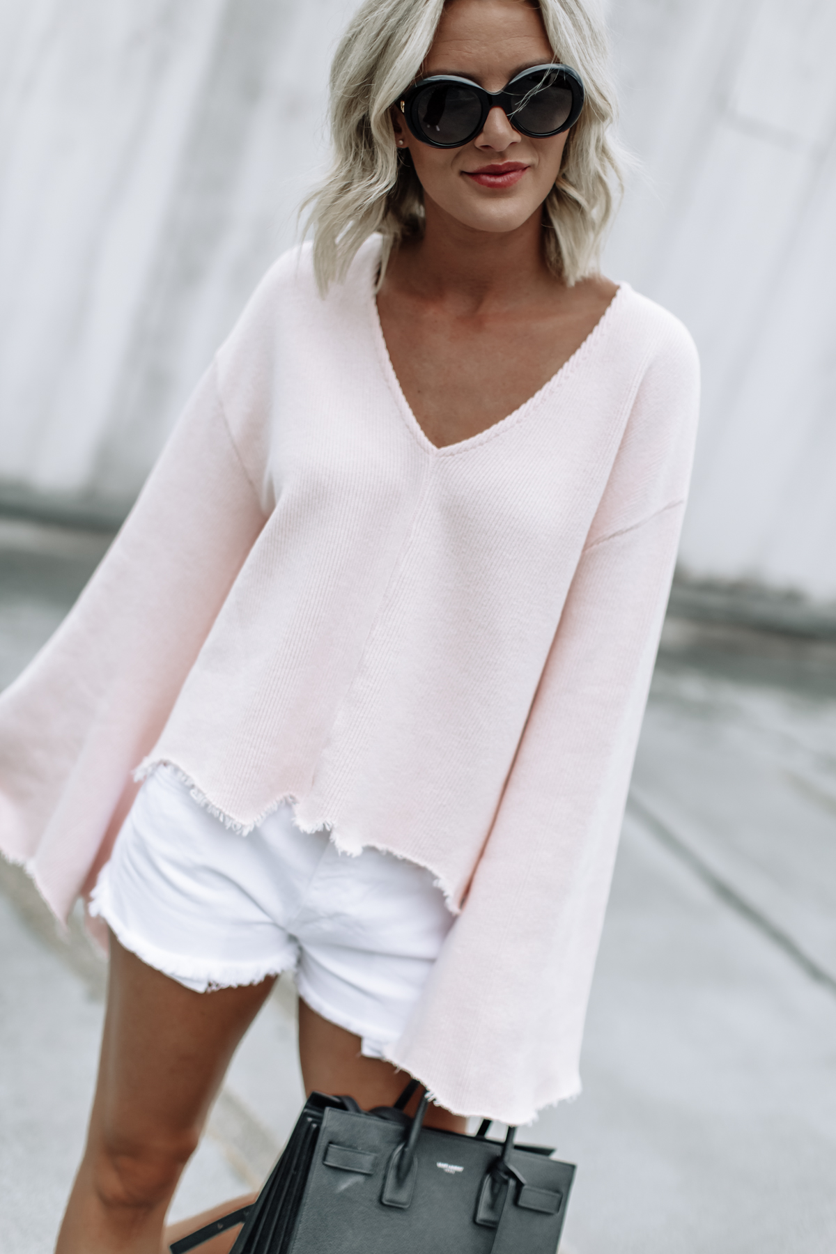 flare sleeve topshop sweater on So Sage